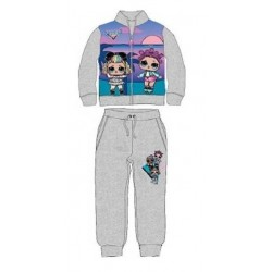 Ensemble Jogging Lol Surprise gris licence officielle du 3 au 8 ans ENFANT FILLE VETEMENT SPORT NEUF