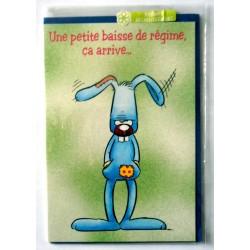 Carte postale double avec enveloppe bon rétablissement humour STANLEY neuve