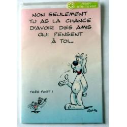 Carte postale double avec enveloppe bon rétablissement humour GAI LURON neuve