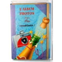 Carte postale double avec enveloppe album photo d'une fête inoubliable neuve