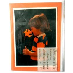 Carte postale double avec enveloppe multi choix fête anniversaire voeux neuve