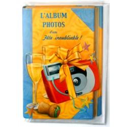Carte postale double avec enveloppe bonne fête ados album fête inoubliable neuve
