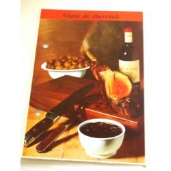 """FICHE CUISINE de ELLE vintage rétro par Madeleine Peter """" gigue de chevreuil """" collection occasion"""