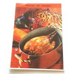 """FICHE CUISINE de ELLE vintage rétro par Madeleine Peter """" faisan en cocotte """" collection occasion"""