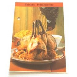 """FICHE CUISINE de ELLE vintage rétro par Madeleine Peter """" faisan bohémienne """" collection occasion"""
