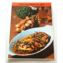"FICHE CUISINE de ELLE vintage rétro par Madeleine Peter "" filets de dinde au plat "" collection occasion"