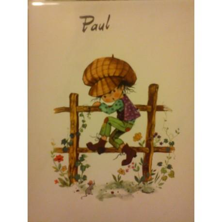 "prenom sur faience a encadré ou poser ""PAUL "" neuf"