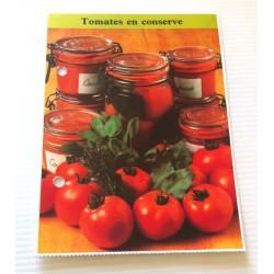 """FICHE CUISINE de ELLE vintage rétro par Madeleine Peter """" tomates en conserve """" collection occasion"""