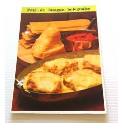 """FICHE CUISINE de ELLE vintage rétro par Madeleine Peter """" pâté de lasagne bolognaise """" collection occasion"""