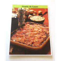 """FICHE CUISINE de ELLE vintage rétro par Madeleine Peter """" gratin de Laure """" collection occasion"""