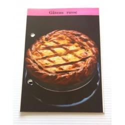 """FICHE CUISINE de ELLE vintage rétro par Madeleine Peter Desserts """" gâteau Russe """" collection occasion"""