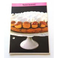 """FICHE CUISINE de ELLE vintage rétro par Madeleine Peter Desserts """" Saint Honoré """" collection occasion"""