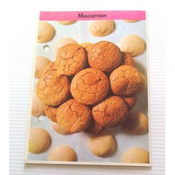 """FICHE CUISINE de ELLE vintage rétro par Madeleine Peter Desserts """" macarons """" collection occasion"""