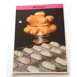 """FICHE CUISINE de ELLE vintage rétro par Madeleine Peter Desserts """" meringues """" collection occasion"""