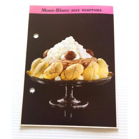 """FICHE CUISINE de ELLE vintage rétro par Madeleine Peter Desserts """" Mont blanc aux marrons """" collection occasion"""