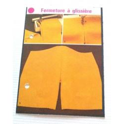 """FICHE COUTURE de ELLE vintage rétro par LES SPÉCIALISTES DE SINGER """"fermeture à glissière"""" collection occasion"""