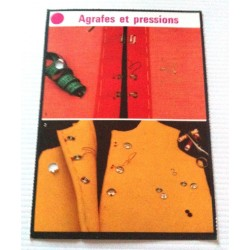 """FICHE COUTURE de ELLE vintage rétro par LES SPÉCIALISTES DE SINGER """"agrafes et pressions """" collection occasion"""