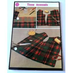 """FICHE COUTURE de ELLE vintage rétro par LES SPÉCIALISTES DE SINGER """"tissus écossais"""" collection occasion"""