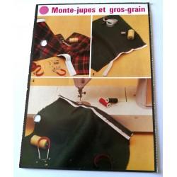 """FICHE COUTURE de ELLE vintage rétro par LES SPÉCIALISTES DE SINGER """"monte - jupes et gros - grain"""" collection occasion"""