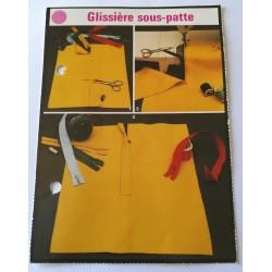 """FICHE COUTURE de ELLE vintage rétro par LES SPÉCIALISTES DE SINGER """"glissière sous patte"""" collection occasion"""