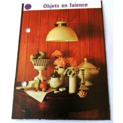 """FICHE MAISON de ELLE vintage rétro par Jacqueline Chaumont """" objets en faïence """" collection occasion"""