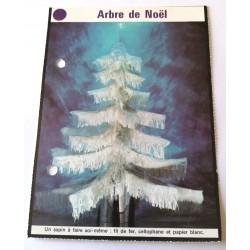 """FICHE MAISON de ELLE vintage rétro par Jacqueline Chaumont """" arbre de noël """" collection occasion"""