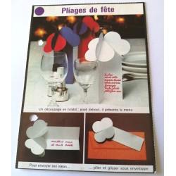 """FICHE MAISON de ELLE vintage rétro par Jacqueline Chaumont """" pliages de fête """" collection occasion"""