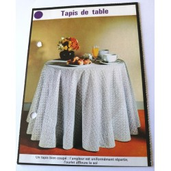 "FICHE MAISON de ELLE vintage rétro par Jacqueline Chaumont "" tapis de table "" collection occasion"