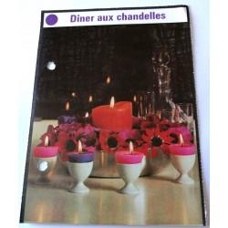 """FICHE MAISON de ELLE vintage rétro par Jacqueline Chaumont """" dîner aux chandelles """" collection occasion"""