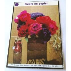 """FICHE MAISON de ELLE vintage rétro par Jacqueline Chaumont """" fleurs en papier """" collection occasion"""