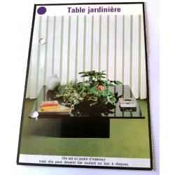"""FICHE MAISON de ELLE vintage rétro par Jacqueline Chaumont """" table jardinière """" collection occasion"""