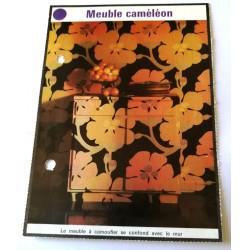 """FICHE MAISON de ELLE vintage rétro par Jacqueline Chaumont """" meuble caméléon """" collection occasion"""