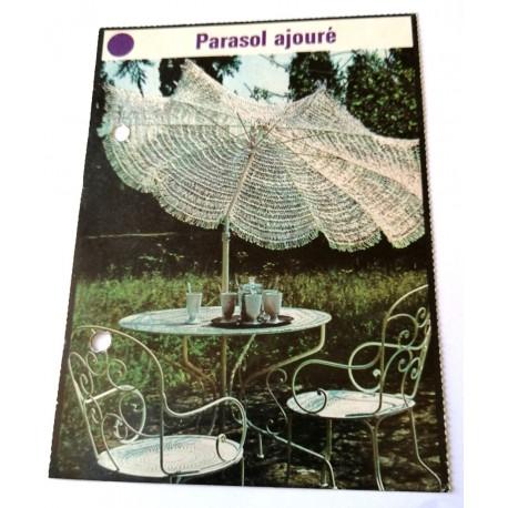 """FICHE MAISON de ELLE vintage rétro par Jacqueline Chaumont """" parasol ajouré """" collection occasion"""