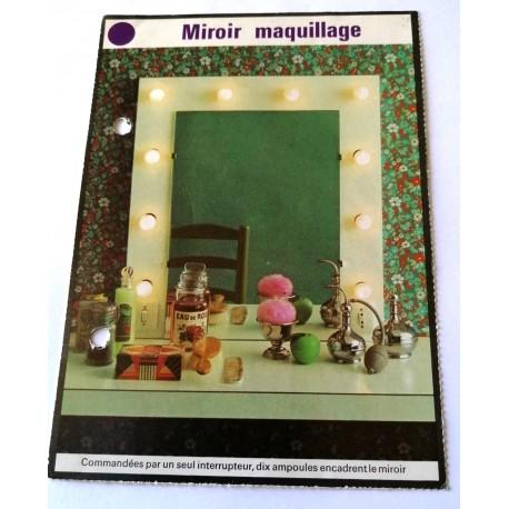 """FICHE MAISON de ELLE vintage rétro par Jacqueline Chaumont """" miroir maquillage """" collection occasion"""