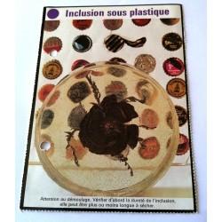 """FICHE MAISON de ELLE vintage rétro par Jacqueline Chaumont """" inclusion sous plastique """" collection occasion"""