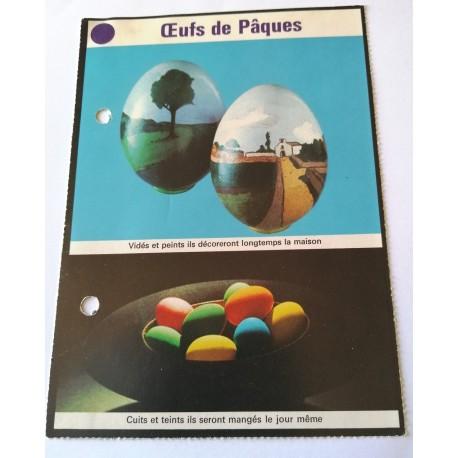 """FICHE MAISON de ELLE vintage rétro par Jacqueline Chaumont """" œufs de pâques """" collection occasion"""