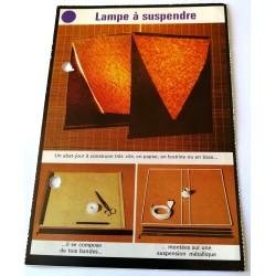 """FICHE MAISON de ELLE vintage rétro par Jacqueline Chaumont """" lampe a suspendre """" collection occasion"""
