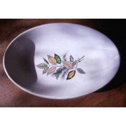 ancienne coupelle ovale sarreguemines sous bois numerotée 21 beg