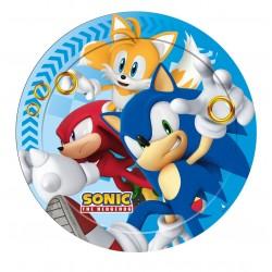 Lot de 8 Assiettes en carton Sonic 23 cm jetable enfant gouter anniversaire fête neuve