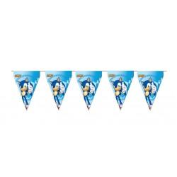 Guirlande fanions en carton Sonic 3 m x 30 cm enfant gouter d'anniversaire fête neuve