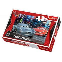 Puzzle 30 pièces Cars Flash Mc Queen Disney enfant jeux jouet Idée cadeau anniversaire noel neuf