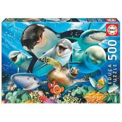 Puzzle 500 pièces Selfies sous-marins licence officielle Edition EDUCA BORRAS idée cadeau anniversaire noël neuf