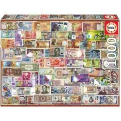 Puzzle 1000 pièces collection les billets du monde licence officielle Edition EDUCA BORAS idée cadeau anniversaire noël neuf