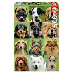Puzzle 500 pièces divers chiens licence officielle Edition EDUCA BORRAS idée cadeau anniversaire noël neuf