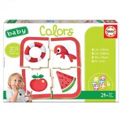 Jeu de mémo éducatif 24 mois et + les couleurs puzzle 24 pièces EDUCA BORRAS idée cadeau anniversaire noël neuf