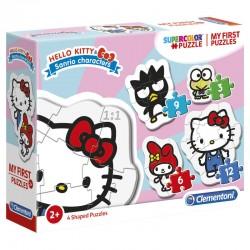 Jeu éducatif mes 4 premiers puzzles avec Hello Kitty 2 ans et + marque CLEMENTONI idée cadeau anniversaire noël neuf