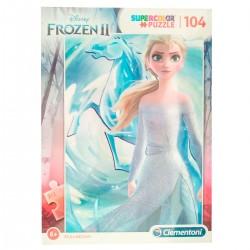 Puzzle 104 pièces reine des neiges 2 Frozen ELSA licence Disney CLEMENTONI idée cadeau anniversaire noel neuf