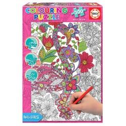 Puzzle 300 pièces mandala anti stress a colorier marque EDUCA BORRAS idée cadeau anniversaire noel neuf