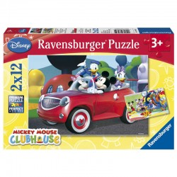 Lot de 2 Puzzles Disney Mickey Minnie and Co. 2x12pcs licence officielle RAVENSBURGER idée cadeau anniversaire noël neuf