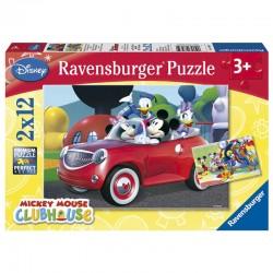 Lot de 2 Puzzles Disney Mickey Minnie and Co. 2x12pcs licence officielle RAVENSBURGER idée cadeau anniversaire noël neuf